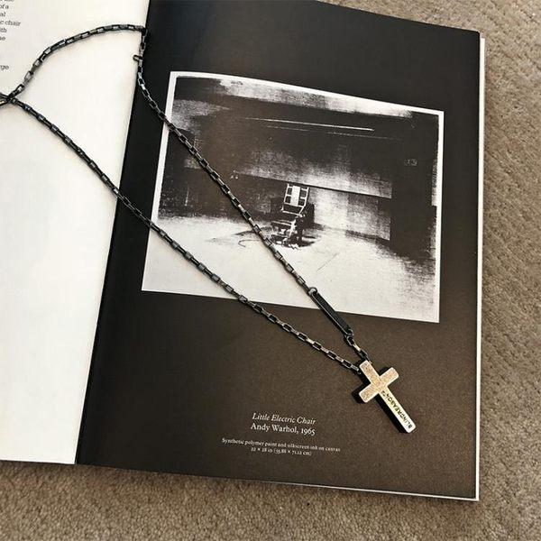 潮曼曼 復古十字架項鍊男女歐美風潮牌百搭吊墜創意個性百搭情侶   麥吉良品