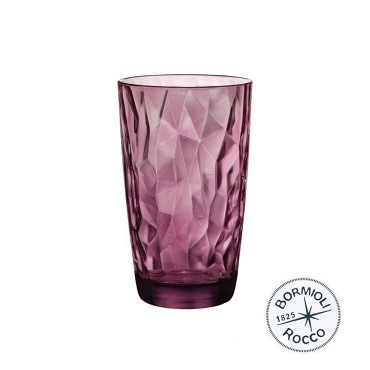 義大利Bormioli Rocco 鑽石飲料杯6入組-470cc(搖滾紫)