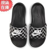 【現貨】Nike Victori One Slide 男鞋 女鞋 拖鞋 休閒 海灘 新款 柔軟 格紋 黑【運動世界】CN9678-004