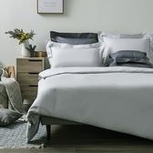 (組)托斯卡素色純棉床被組雙人銀灰