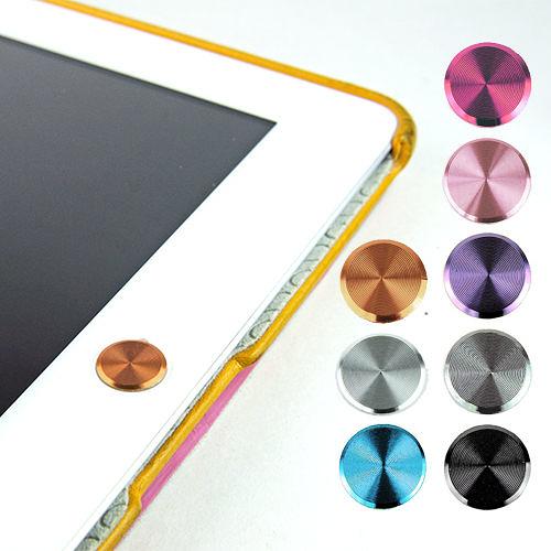 【東西商店】多彩鋁鎂合金按鍵貼(素面款) for iPad | iPhone | iPod Touch