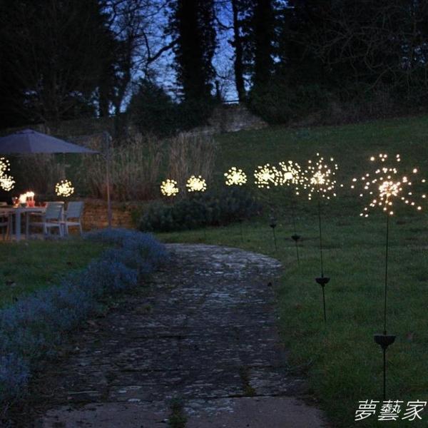 太陽能led聖誕節彩燈閃燈串燈滿天星七彩戶外地插庭院裝飾小夜燈 夢藝家