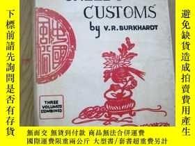 二手書博民逛書店【罕見】1966年出版,Chinese Creeds and Customs (中國風俗) 精裝Y171274