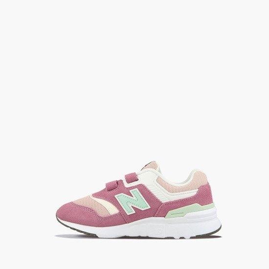 New Balance 粉綠寬楦休閒中童鞋-NO.PZ997HAP