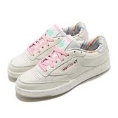 Reebok 休閒鞋 Club C 85 米白 粉紅 女鞋 AMUSEMENT PARK 運動鞋 【ACS】 FY4729