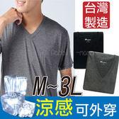 儂儂non-no V領涼感短袖 灰色L號 3件/組