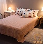 單人床罩組 床包1.2米床三件套卡通水洗棉被套床單三件套【宅貓醬】