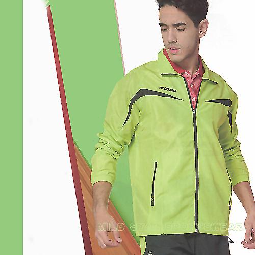 MILD STAR  男女平織網裡運動服套裝[全套]-淺綠黑-JS700104+PS500204