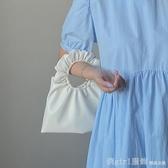 單肩包 云朵包女2020新款軟皮褶皺包少女凹造型可愛餃子手拎包 雙12狂歡購