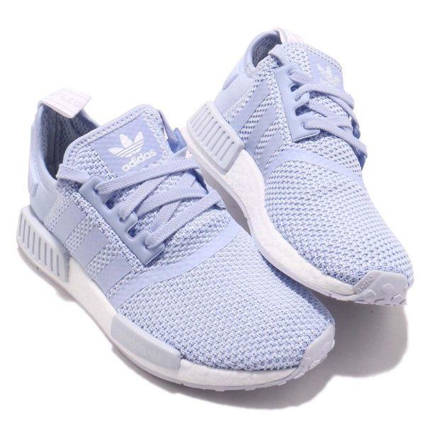adidas NMD_R1 W 紫 白 薰衣草 boost 襪套式設計 運動鞋 女鞋【PUMP306】 B37653