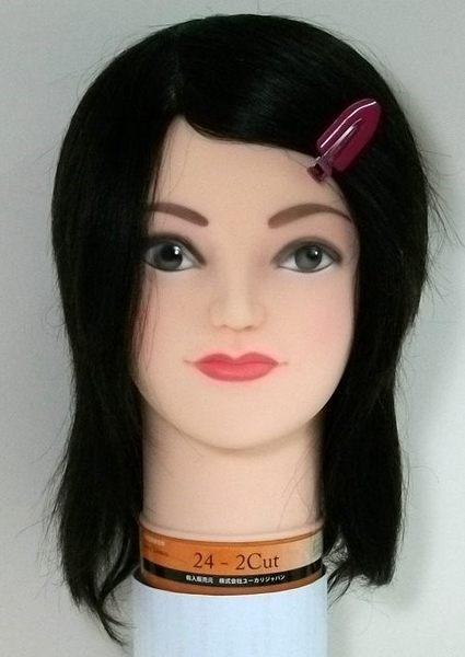 考試練習用日本假人頭 24-2Cut   仿真髮一根一根製作