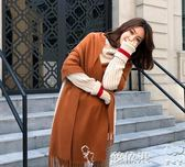 2018圍巾女韓版保暖秋冬季日系百搭仿羊絨長款加厚純色大披肩夢依港