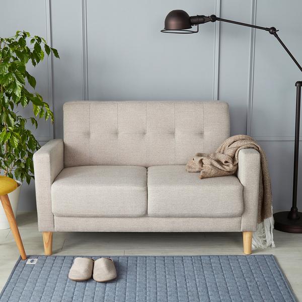 雙人座 艾咪日式厚座墊雙人布沙發/3色/H&D東稻家居