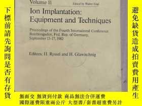 二手書博民逛書店ion罕見implantation:equipment and techniques(P1035)Y17341