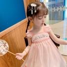 洋裝 小童漢服洋裝連衣裙女童古裝超仙刺繡襦裙中國風寶寶復古仙女雪紡裙子 快速出貨