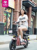 鋰電電動車小型電瓶車48V電動自行車男女可取充電成人 熊熊物語