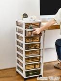 辦公桌面收納盒抽屜式收納柜桌下a4文件置物架文具用品儲物整理箱 ATF 極有家