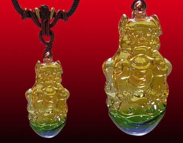鹿港窯~居家開運水晶琉璃項鍊~角端 附精美包裝◆免運費送到家