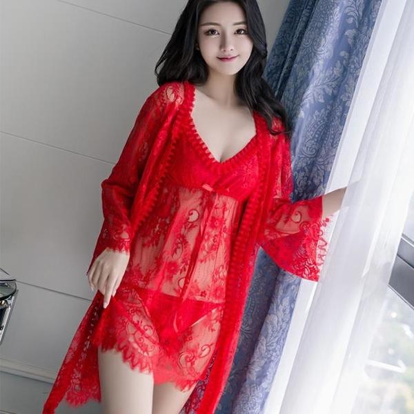靚芝美情趣內衣女極度誘惑蕾絲套裝騷睡裙透明成人性感睡衣春秋