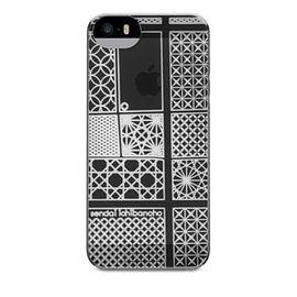 【唐吉商城】POWER SUPPORT iPhone 5/5S 專用 Air Jacket Kiriko 江戶切子保護殼 - 仙台灰(PSCM)