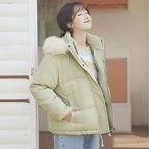 冬裝連帽外套女寬鬆ins棉衣毛領保暖加厚工裝棉服 【新春特惠】