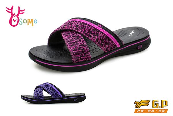 GP拖鞋 成人女款 輕量 飛織和風 雙帶拖鞋 【共二款】O8978 .79◆OSOME奧森鞋業