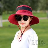 戶外帽子透氣女帽遮陽情侶漁夫帽可摺疊太陽帽出游登山旅游防曬帽 衣櫥の秘密