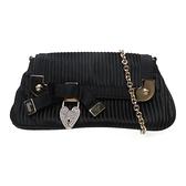 GUCCI 古馳 黑色緞面手提包 Heart Lock Mini Bag 155564【二手名牌 BRAND OFF】