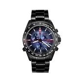 【SWISS MILITARY HANOWA】瑞士軍錶三眼計時錶+錶帶-深海藍/SM10080XSB.H03M-SET/台灣總代理公司貨兩年保固