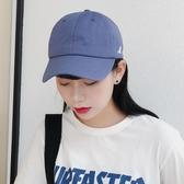 時尚軟頂霧霾藍棒球帽 休閑透氣鴨舌帽 遮陽帽【多多鞋包店】m232