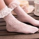 蕾絲襪 日繫短襪洛麗塔蕾絲襪子韓國夏蕾絲花邊薄款 此商品不接受退貨或退換