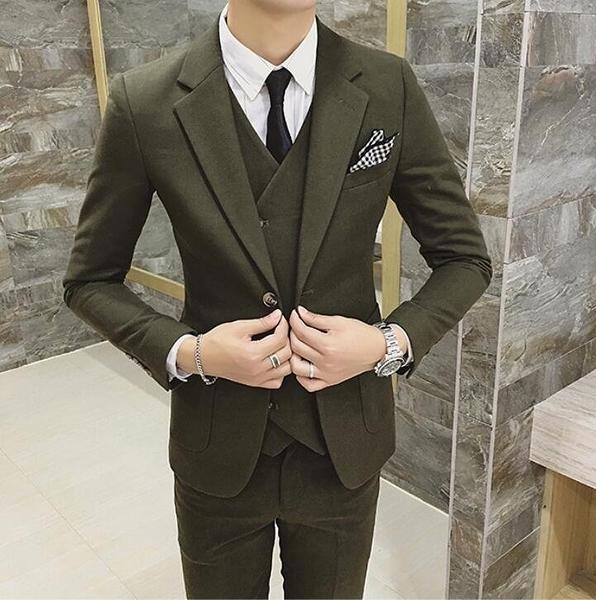 找到自己品牌 韓國男 帥氣單排扣 小西裝 修身西裝 西裝外套 單件外套