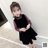 女童秋裝新款洋裝套裝韓版潮衣童裝女洋氣公主兒童裙子春秋 一件免運