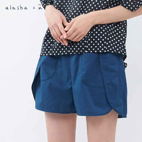 a la sha+a 活片飄飄設計打結口袋短褲