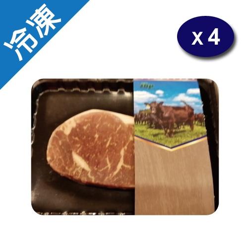 美國冷凍紐約客牛排250G/盒X4【愛買冷凍】