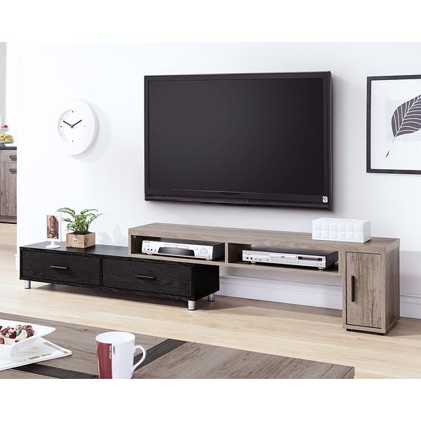 【森可家居】肯特古橡色4.6尺伸縮長櫃 9HY316-02 電視櫃 現代輕工業風 雙色 MIT台灣製造
