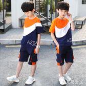 男童套裝12兒童裝新款8洋氣中大童夏季6短袖男孩兩件套潮 JY1625【大尺碼女王】