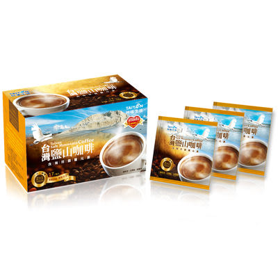 【台塩生技 tybio】台灣鹽山咖啡(2合1)(17包/盒)