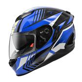 【東門城】ZEUS ZS1600 AK6 (碳纖原色/藍) 全罩式安全帽