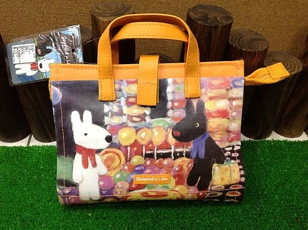 【發現。好貨】日本原裝 Gaspard et Lisa 黑白狗收納夾 化妝包 文件夾