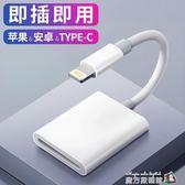 蘋果手機SD讀卡器OTG線iPhone轉接頭iPad高速USB3.0內存卡相機TF/SD卡多合一單反CF轉換器安 魔方數碼館
