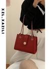 輕奢紅色包包結婚新娘婚包大容量小眾婚禮手提側背2021新款斜背包 黛尼時尚精品