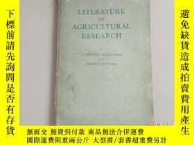 二手書博民逛書店literature罕見of Agricultural rese