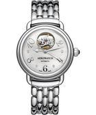 AEROWATCH 藝術小鏤空珍珠貝機械腕錶-珍珠貝x銀 A68922AA04M
