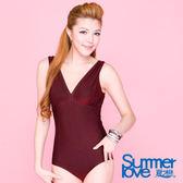【SUMMERLOVE夏之戀】大尺碼連身三角泳衣-E12703