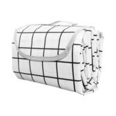 【Incare】防水收納摺疊便攜野餐墊(加大款/200x200cm)白格
