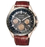 CITIZEN 星辰 GPS衛星 光動能 鈦金屬手錶 CC9016-01E 玫瑰金