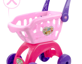 兒童購物車玩具套裝女孩男孩手小推車嬰兒過家家寶寶切水果切切樂[快速出貨]