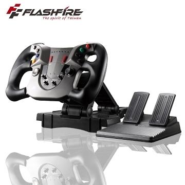 FlashFire F1狂飆車神磁感應PC/PS3 2IN1 震動方向盤 遊戲方向盤 控制器 賽車控制器 強強滾