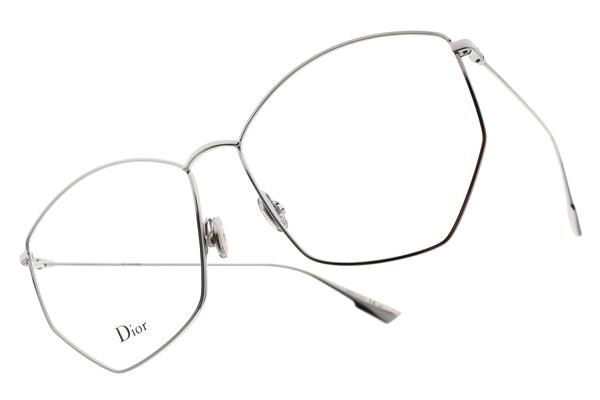 Dior 光學眼鏡 STELLAIREO4 010 (銀) 法式時尚不規則邊框款 #金橘眼鏡